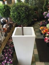 Hoch Weiß Pflanzgefäß Garten Retro Möbel