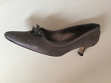 Ladies Brown Leather Snake MONCLAIR Print Court Shoes By Van Dal Size 5D