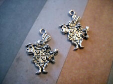 White Rabbit Charms Pendants Antiqued Silver Rabbit Charms Herald Rabbit Charms