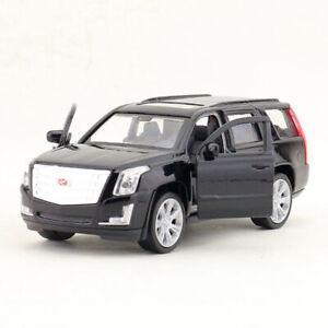 1:43 2017 Cadillac Escalade SUV Model Car Diecast Toy Vehicle Pull Back Black