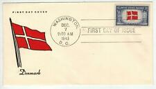 Patriotic Fdc Ww2 Overrun Countries Occupied Nations 920-2 Denmark Flag