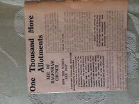 M3-7a ephemera 1941 dagenham article ww2 1000 more allotments needed thorneycrof