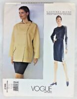 Vtg Vogue Geoffrey Beene Sewing Pattern UNCUT 1998 Sz 8 10 12 Jacket Skirt L44
