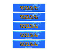 ORIGINAL 5 x GENUINE RIZLA BLUE KING SIZE SLIM CIGARETTE SMOKING ROLLING PAPERS
