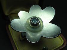Charlotte Ehinger Schwarz Designer Ring 925 Silber mit Aquamarin