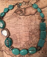 "Silpada N2163 Turquoise Howlite Magnesite Necklace Sterling Silver 20-22"" $289"