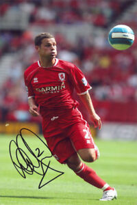 Luke Young, Middlesbrough, signed 12x8 inch photo. COA.