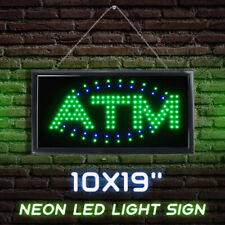 Hanging ATM LED Sign Neon Light Sign with Flashing for Business Bar Store