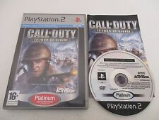 CALL OF DUTY LE JOUR DE GLOIRE - SONY PLAYSTATION 2 PS2 PAL FR PLATINUM COMPLET