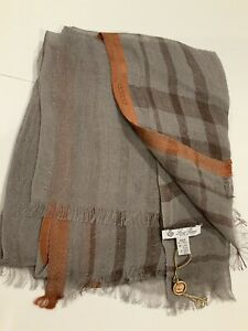 LORO PIANA LINEN/SILK (95/5)Unisex Scarf/Wrap/Stole (80X30 Inches)—New with Tags