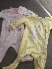 Baby Girl Debenhams Sleepsuit 0-3 X2