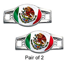 Mexico Flag Shoe Charms / Paracord Charms (Waving)