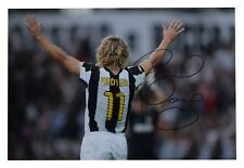 Pavel Nedved SIGNED 12x8 Photo Autograph Juventus Football Memorabilia AFTAL COA