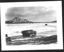 VINTAGE PHOTOGRAPH WHITE RIVER TRUCK WHITEHORSE CANADA CANOL OIL PIPELINE PHOTO