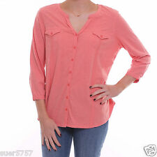 New Debenhams Ladies Coral Jersey 3/4 Sleeve Casual Summer Shirt Top Size 8 - 24