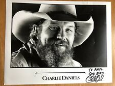 Country Singer Charlie Daniels Two Autographed Photos