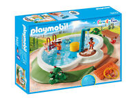 9422 Playmobil Swimming Pool with Functioning Shower and Floating Raft Family Fu