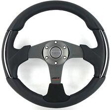 Genuine Momo Race 3000 steering wheel. Black leather, alcantara, chrome.  RARE!