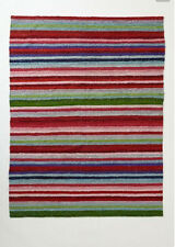 "New Anthropologie Stripe Spice Rug By Paola Navone Blue 24"" X 36"" 61CM X 91CM"