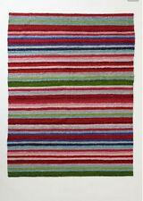 "New Anthropologie Stripe Spice Rug By Paola Navone Blue 24"" X 36"" 61CM X 91CM"