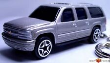 KEY CHAIN SILVER PEWTER CHEVROLET SUBURBAN CHEVY SUV 4X4 NEW CUSTOM LTD EDITION