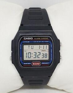 Mens Casio Classic Black Alarm Chrono Digital Watch W-71 Modul 549 Korea D1