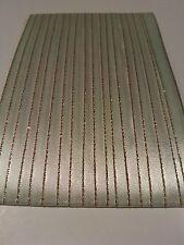 5M 10mm Thin Mint Green Gold Edged Satin Ribbon Trim Card Making Scrapbooking
