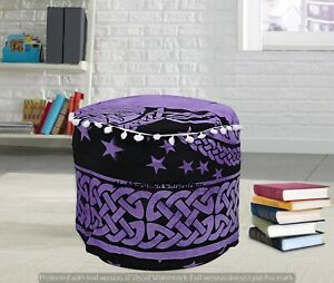 Large Cotton Moroccan Decor Furniture Hippie Round Footstools Indian Ottomans