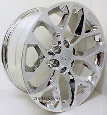 """New Set of Four 20"""" Chevy Silverado Tahoe Chrome Snowflake Wheels Rims"""
