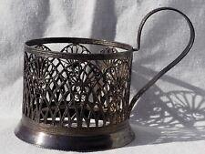 VINTAGE USSR PODSTAKANNIK Tea Glass-Holder Filegree GRILL SUMMER GARDEN RARE