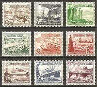 DR Nazi 3rd Reich Rare WW2 Stamp Hitler Sea Boats Frigate War Ship Winter Relief