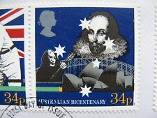 ENGLAND/AUSTRALIA, cover FDC 1988, joint issue bicentenary, tennis John Lennon