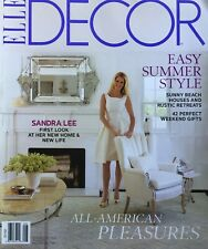 SANDRA LEE - FIRST LOOK AT HER NEW HOME & LIFE July 2012 ELLE DECOR Magazine