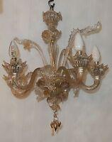 1900/1920 Lustre Cristal Murano 4 Branches