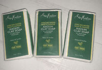 Lot of 3 - Shea Moisture African Water Mint & Ginger Kaolin Clay Soap