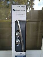 "Glacier Bay 56""/72"" Rustproof Aluminum Adjustable Curved Shower  Bath Rod Chrome"
