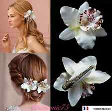 Orchidée Pince à cheveux Blanche Mariée Accessoires Beauté