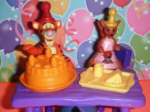 Disney Eeyore Kanga Tigger Birthday Party Set Table Chairs Cake Food Tray