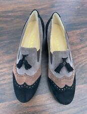 Brunate Heels Pumps Womens Suede Leather Shoes Black/Brown/gray Sz 8.5 (38–1/2)