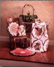New Quilt Pattern    PRAIRIE ROSE     Rug  Quilt  Pillow