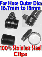 Stainless Braided Fuel Hose Finisher Hose End Cap clips