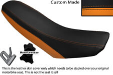 BLACK & ORANGE CUSTOM FITS KTM 690 R SUPERMOTO LEATHER SEAT COVER ONLY
