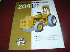 Massey Ferguson 204 Forklift Dealer's Brochure 211/364-25-3