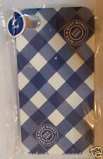 Bath & Body Works Authentic Checkered iPhone 4/4S White and Blue Case / Cover