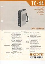 SONY TC-44  Service Manual Anleitung  B1791
