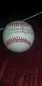 Orioles Hank Bauer Autographed Official American League Baseball .