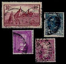 Déstockage : L'ANNÉE 1933 Complète, Oblitérés = Cote 14 € / Lot Timbres France