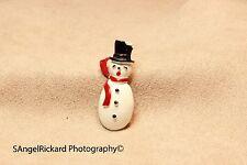 Gerry's Snowman figural brooch pin Enameled 1960's VINTAGE