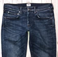 Mens EDWIN ED-55 Jeans W34 L32 Blue Regular Tapered Fit 🇯🇵