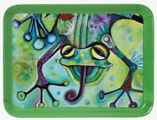 4 x Smiling Frog Small melamine Snack Tray (D135) NEW Christmas Gift Idea